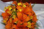 Buquê de noiva laranja