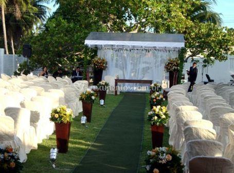 Local da cerimônia decoração