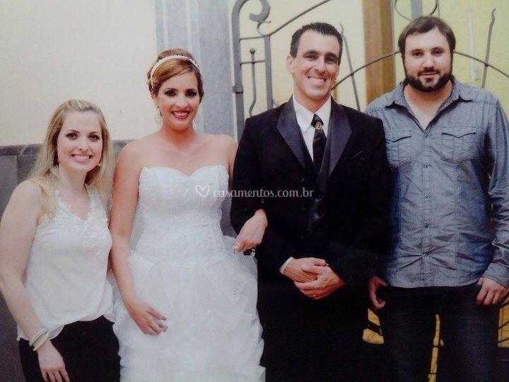 Felizes sempre! Aline e Célio