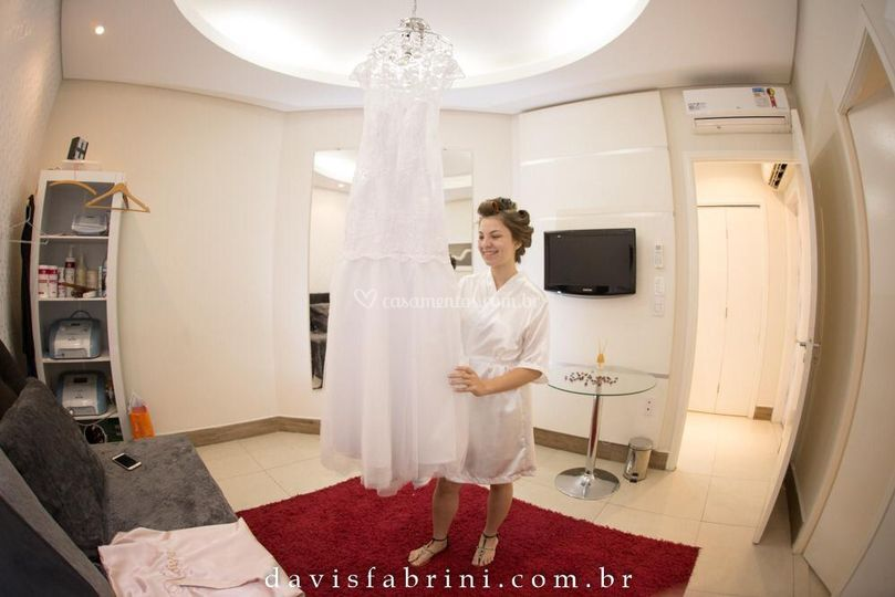 Noiva na sala da noiva
