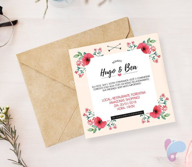 Convite de Noivado - Hugo&Bea