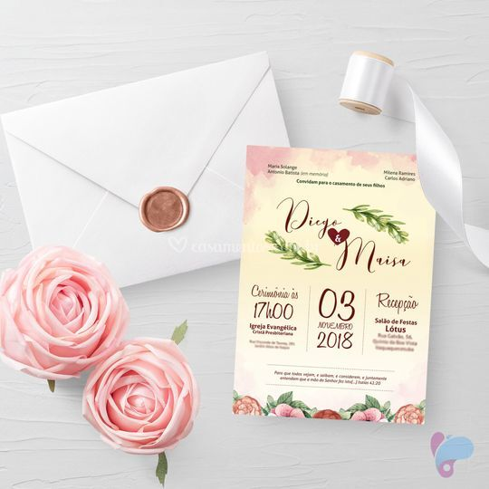 Convite de casamento - Maísa