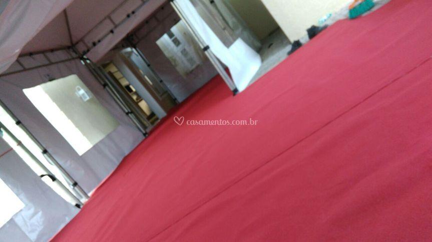 Piso Tablado com Carpete