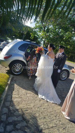 Carro escolhido pela noiva