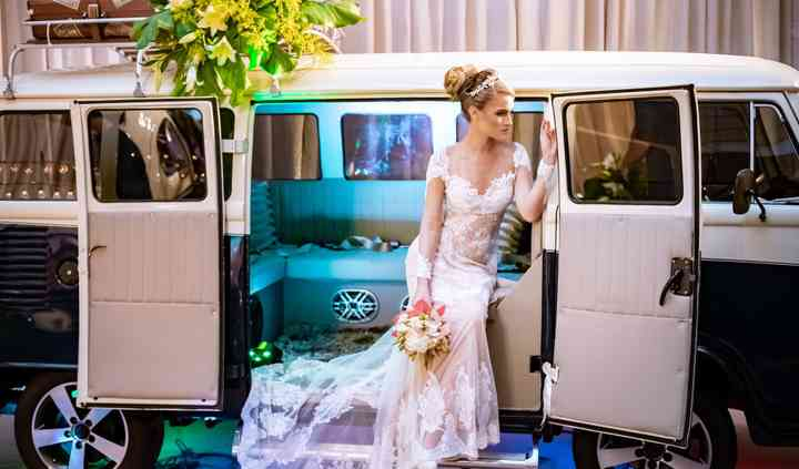Bela para conduzir a noiva