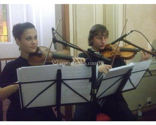 Violinos I e II de quarteto