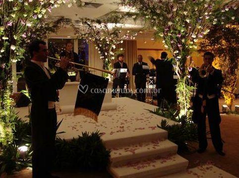 Recepção musical da noiva e do noivo