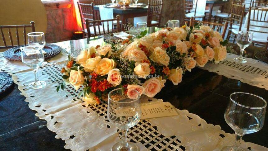 Arranjo mesa convidados
