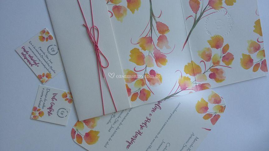 Convite floral 5