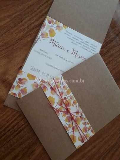 Convite floral 6