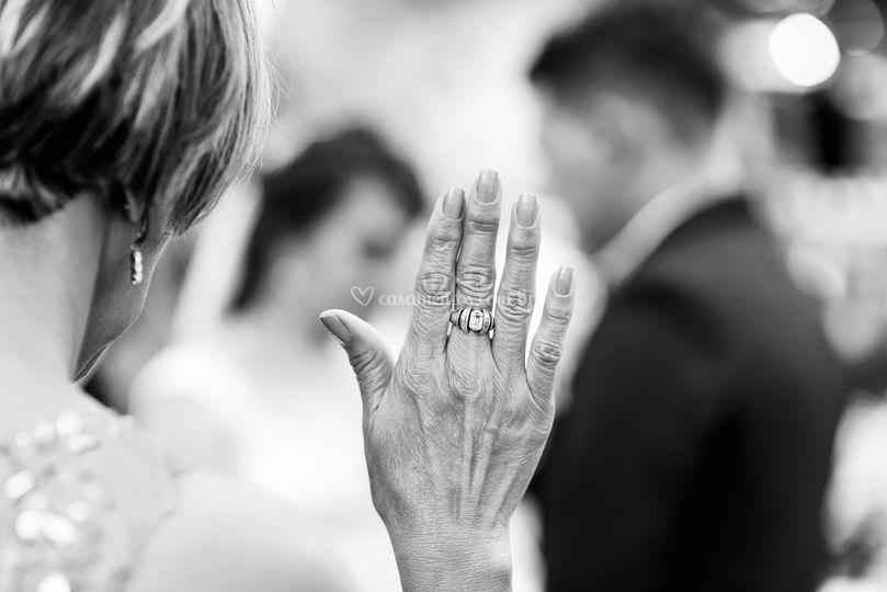 Mãe abençoa o casamento