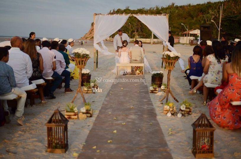 Casamento pés na areia