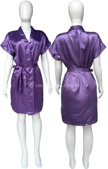 Robe Cetim Feminino Roxo