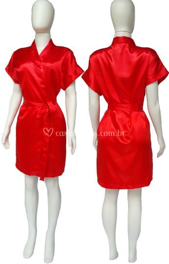 Robe Cetim Feminino Vermelho