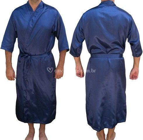 Robe masculino azul marinho