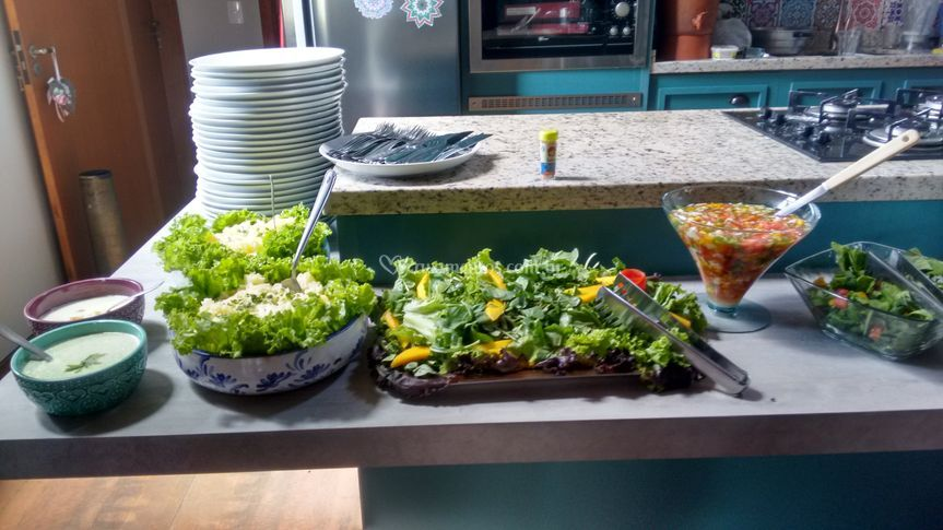 Buffet saladas churrasco