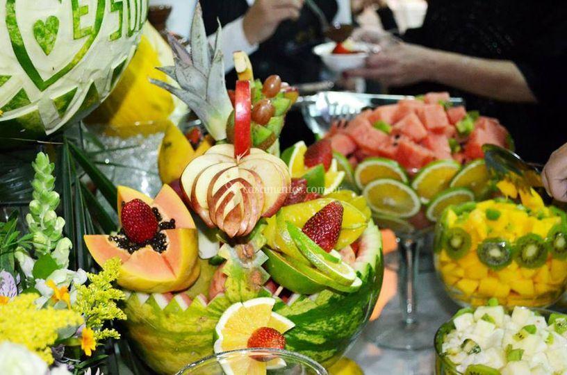 Detalhes mesa de frutas