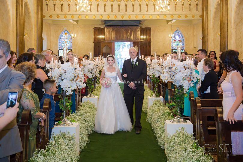 Entrada da noiv, casamento, no