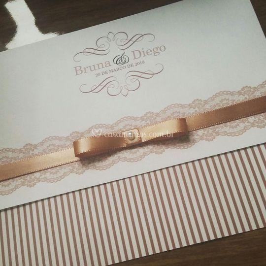 Convite - Bruna ❤️ Diego
