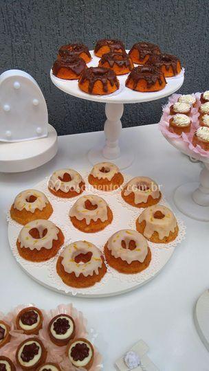 Mini bolos de Laranja