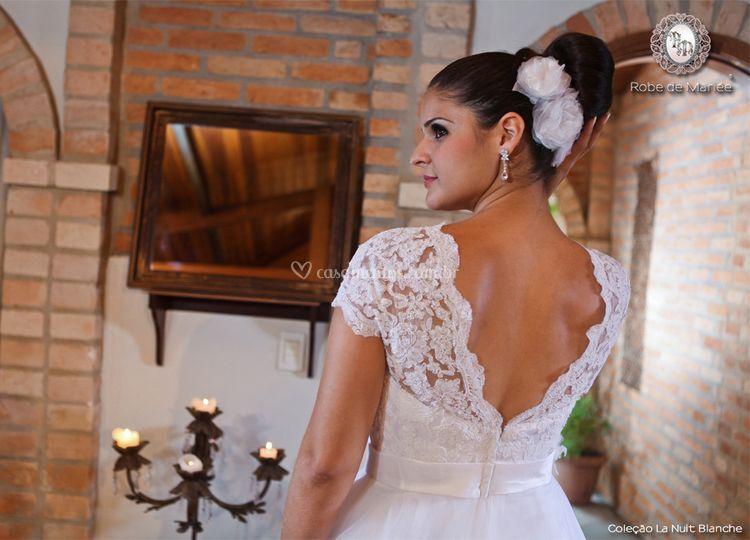 Detalhes do vestido