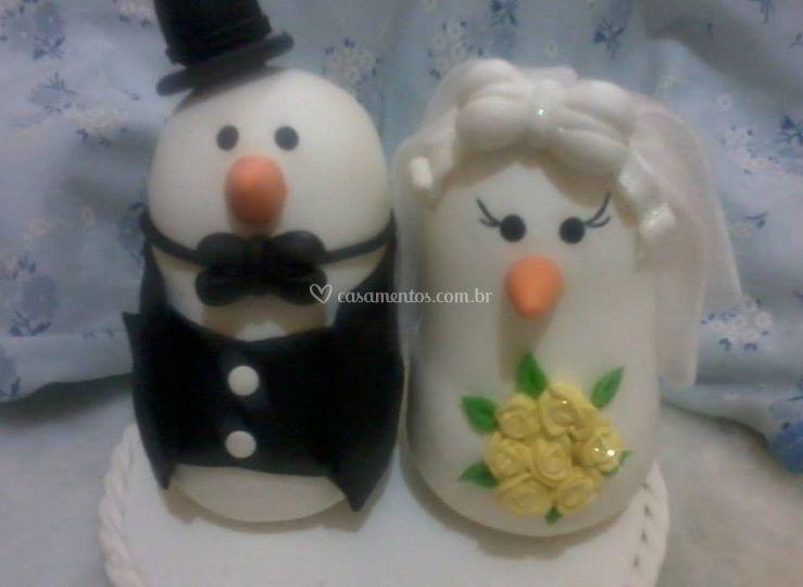 Casal de pombinhos