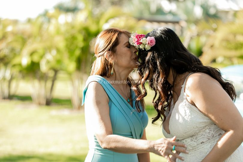Noiva com a mãe