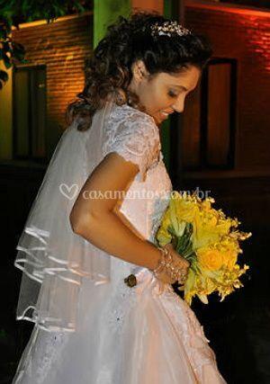 A noiva é feliz