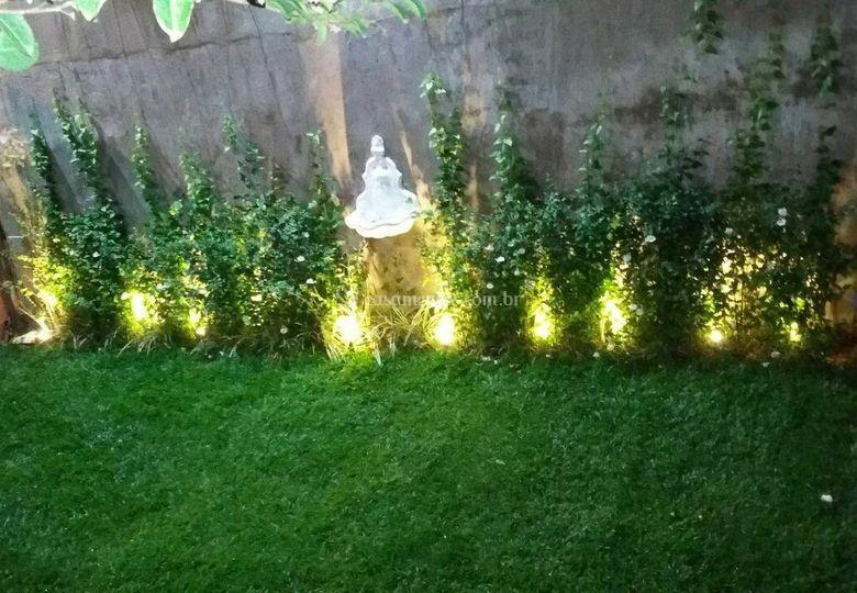 Jardim iluminado Casa