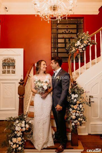 Casal na nossa escada
