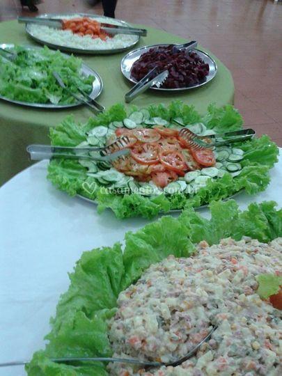 Diversidade de saladas