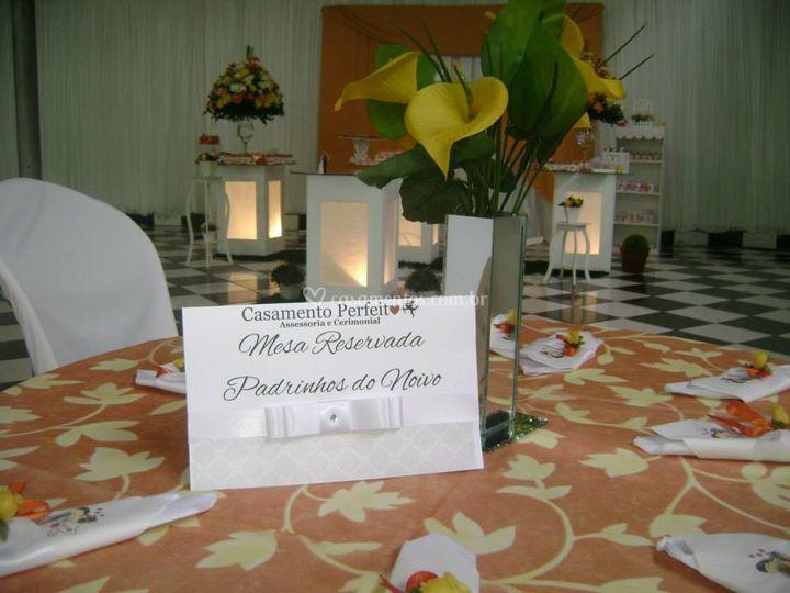 Placa de reserva de mesa