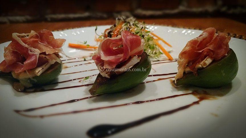 Salada romana com figo