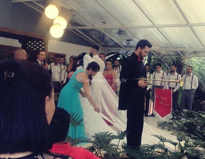 Chegada da noiva no altar