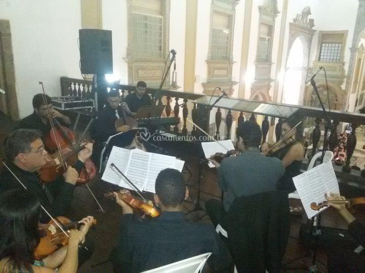Orquestra em apresentação
