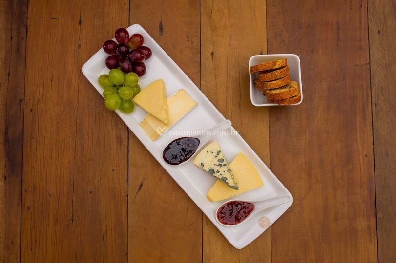 Seleção de queijos finos