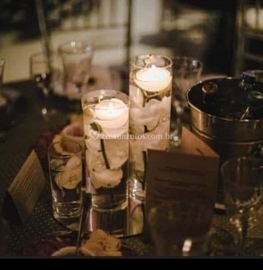 Cilindros para mesa de convida