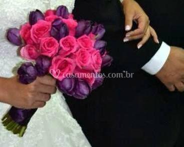 Bouquet rosas e tulipas