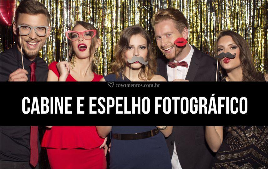 CABINE E ESPELHO FOTOGRÁFICO
