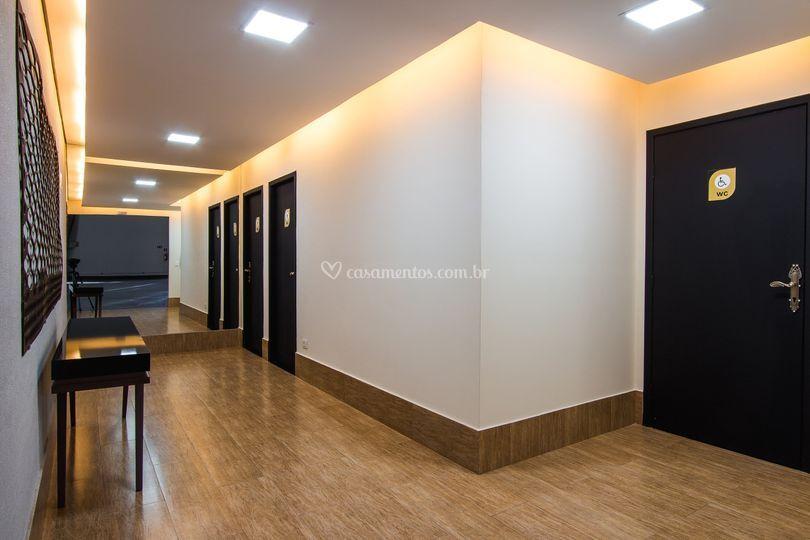 Hall dos banheiros
