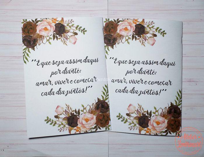 Caderno de Votos - Verso