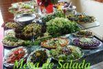 Mesa de salada de Ch�cara Vale das �guas