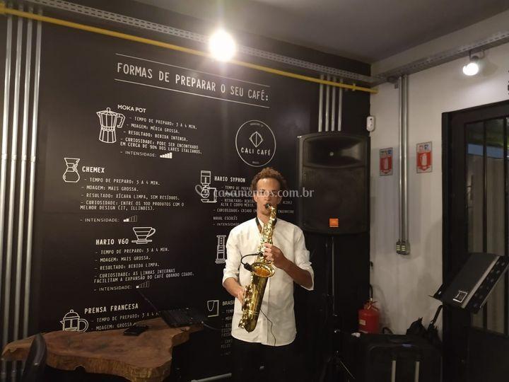 Saxofone para jantar