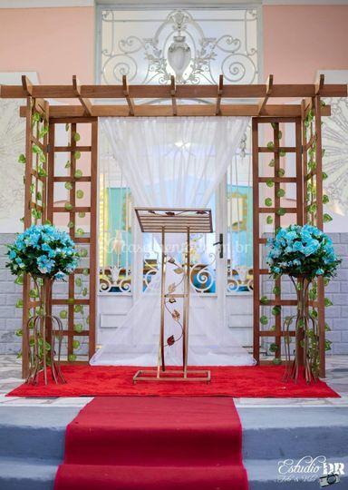 Espaço cerimonial para casamen