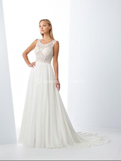 Vestido de Noiva saia fluida