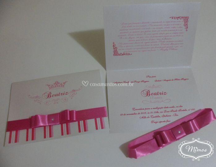 Convite Amanda Pink