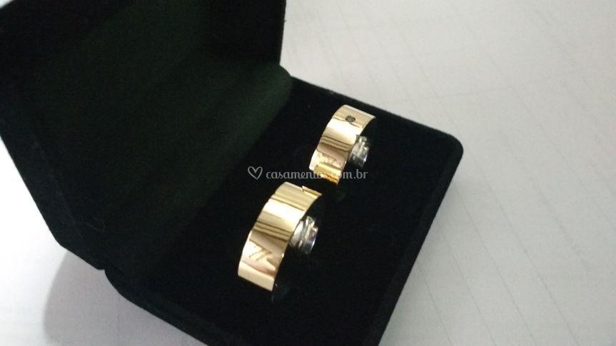 Modelos prata com ouro