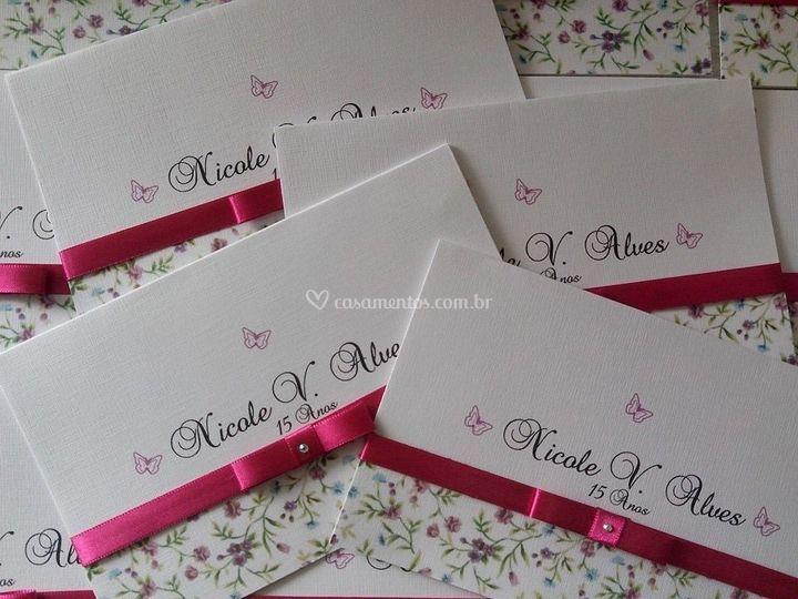 Envelope Convite 15 Anos