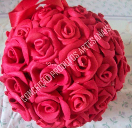 Rosas artificiais perfumadas