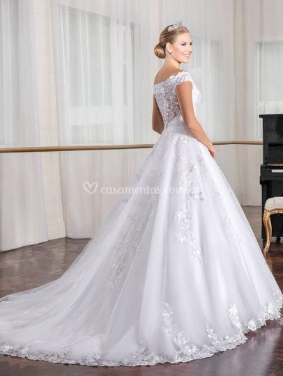 Vestido noiva costas transpare